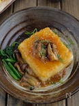 【コスパ最強】新玉おろしガリバタの豆腐ステーキ