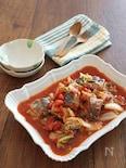 簡単☆白菜とさば缶のピリ辛トマト煮込み