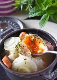 『お料理一年生でもレンジで簡単【らくらく朝ごはんスープ】』