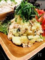 簡単食材でシンプルに☆鮭と大葉のポテトサラダ☆