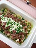 春の蒸し鍋☆キャベツと豚肉のマスタードソース