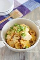 【サク飯】ちくわ入りのフライパン炒り豆腐