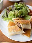『豚と野菜の焼き春巻き』#揚げない#フライパン#お弁当