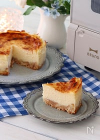 『トースターで簡単!口どけなめらかな基本のベイクドチーズケーキ』