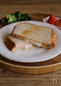 『贅沢トースト!チーズがあふれるダブルチーズホットサンド』