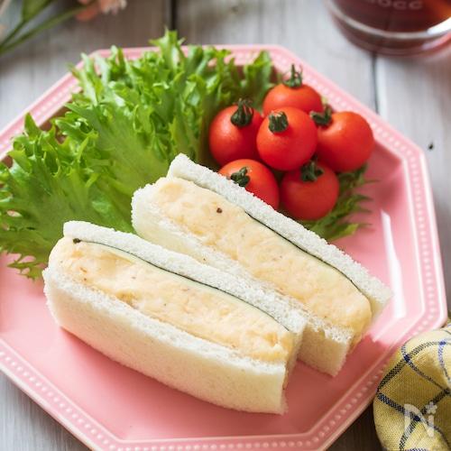 めんたいポテトの海苔チーズサンド【#簡単#お花見#お弁当】