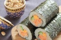 ウチの恵方巻§鮭マヨを混ぜ作るだけ、簡単海苔巻きで鬼はそと!