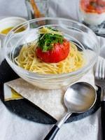 【おもてなし&もちよりに】丸ごとトマトの冷やし汁パスタ