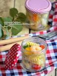 海老とカラフル野菜のハニーレモンパスタサラダ(フジッリ)