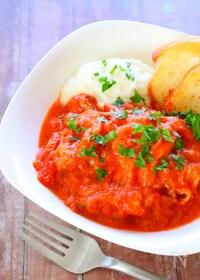 『こってり濃厚「チキンのトマトクリーム煮」の作り方レシピ』