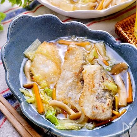 下味冷凍でもっと簡単にお魚料理♡『たらの野菜あんかけ』