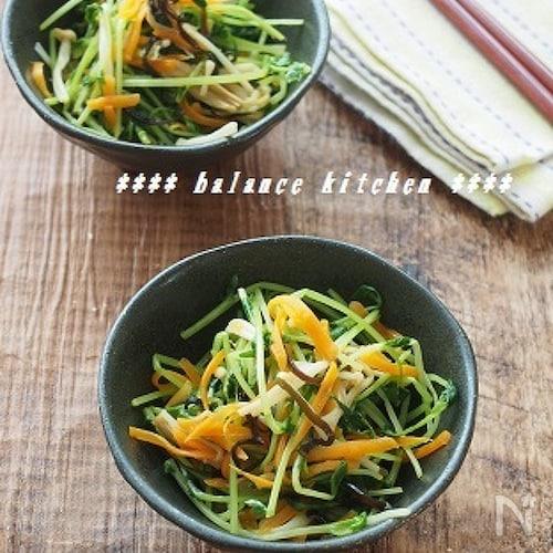 【常備菜】豆苗の塩昆布ナムル