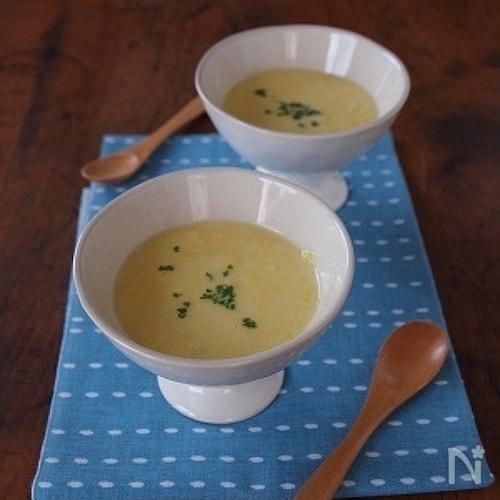 *トウモロコシの冷製スープ*