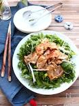 豚肉と春菊のおかずサラダ