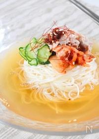 『「そうめん」で!韓国風キムチ冷麺』