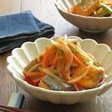野菜ジュースでさっぱり♪鮭のベジマリネ