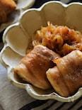 ヘルシーボリュームおかず。生姜焼き風むっちり肉豆腐