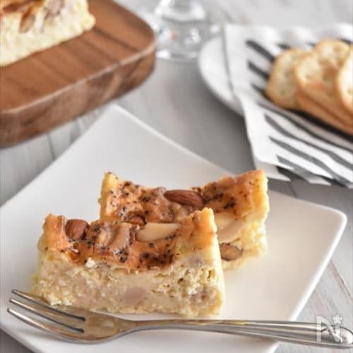 おつまみになる♪ナッツとブラックペッパーのチーズケーキ
