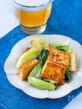 ごはんに合う!生姜が隠し味!チンゲン菜と厚揚げの味噌炒め