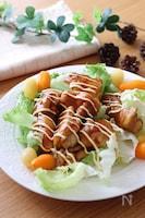生野菜と一緒にどうぞ♪子供も大好き♡鶏肉の甘酢だれマヨビーム