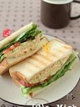 フムスと野菜のサンドイッチ