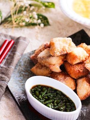 少ない油でサクッと美味しい♡ぶりの竜田揚げ~ポン酢ネギだれ