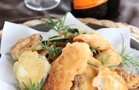 真鯛とズッキーニのフリット パルミジャーノ風味