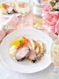 タイム風味のサラダ焼き豚♡ワインを楽しむ食卓♪