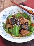 ゴロゴロ肉味噌団子となすの甘辛炒め【アレンジ】