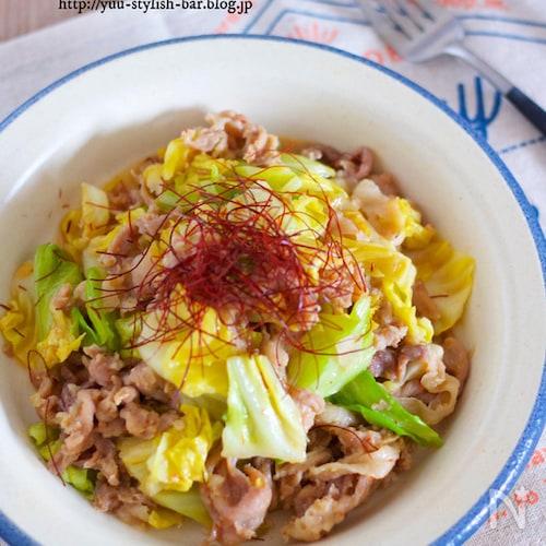 ご飯がすすむ♪お肉柔らか『春キャベツと豚コマの甘辛味噌炒め』