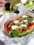 サバ缶とモッツァレラのピザトースト