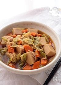 『こうや豆腐とツナの旨煮』