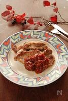 豚ヒレ肉の即席トマトソースがけ