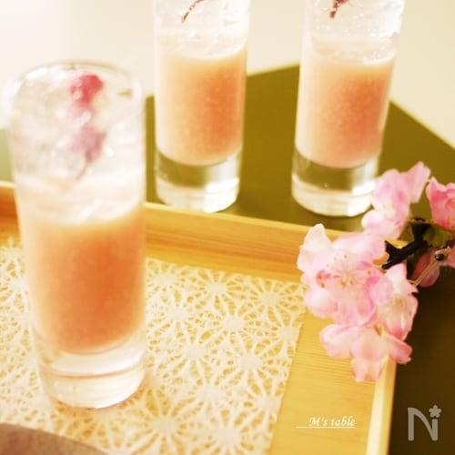 桜の甘酒ゼリー