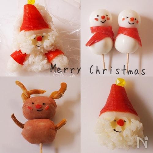 子供が喜ぶ!クリスマスのキャラフード