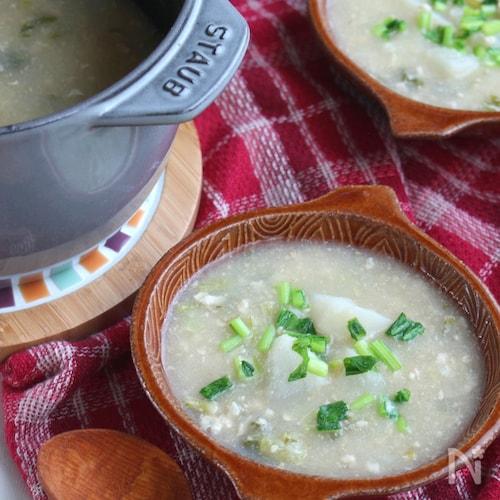 胃腸にやさしいヘルシーごはん。かぶのトロミみぞれ煮スープ