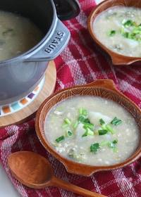 『胃腸にやさしいヘルシーごはん。かぶのトロミみぞれ煮スープ』
