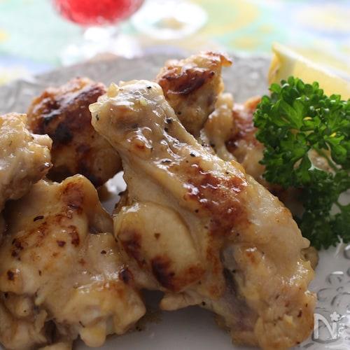 鶏手羽元のレモン風味焼き