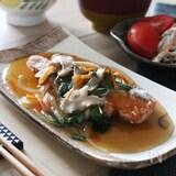 秋鮭のから揚げ〜柚子野菜あんかけ〜