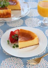 『ホットケーキミックスで作るチーズケーキ』