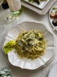 セロリの葉っぱのスパゲッティ