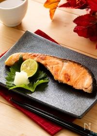 『普通のお味噌で!鮭の西京焼き風』