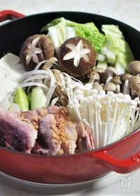 『ストウブSukiyaki & グリルパンで鴨鍋』