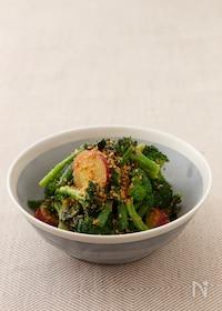 """『【コウケンテツ""""適糖生活""""レシピ】青野菜とさつまいものごまみそあえ』"""