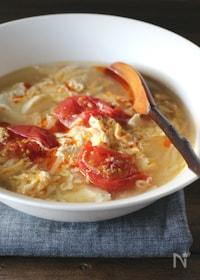 『豆腐と卵のヘルシースープ(酸辣湯風)』
