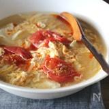豆腐と卵のヘルシースープ(酸辣湯風)
