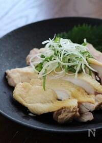 『茹で鶏の冷製』