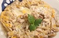 鶏ごぼうの卵とじ ごぼう丼
