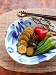 【作り置き】おだしがじゅわ~♡夏野菜の揚げ浸し