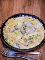 牡蠣の旨味たっぷりなパスタ